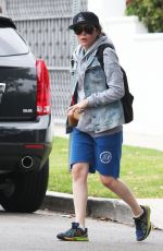 ELLEN PAGE Leaves a Gym in Los Angeles