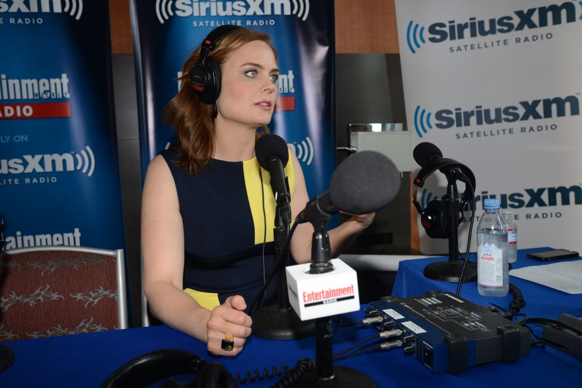 EMILY DESCHANEL at SiriusXM Broadcasts from Comic-con in San Diego