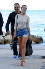 EMILY RATAJKOWSKI Arrives in Ischia