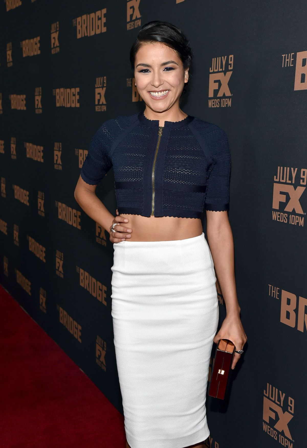EMILY RIOS at The Bridge Season 2 Premiere in West Hollywood