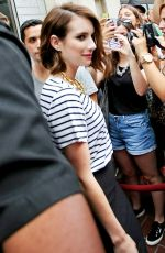 EMMA ROBERTS Arrives at Comic-con 2014 in San Diego