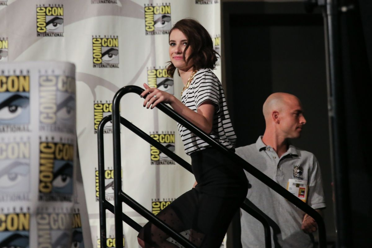 EMMA ROBERTS at American Horror Story: Coven Panel at Comic-con