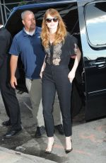 EMMA STONE Arrives at Daily Show with Jon Stewart in New York