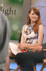 EMMA STONE at Good Morning America in  1607