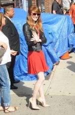 EMMA STONE at Late Show with David Letterman in New York