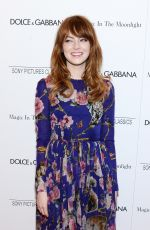 EMMA STONE at Magic in the Moonlight Premiere in New York