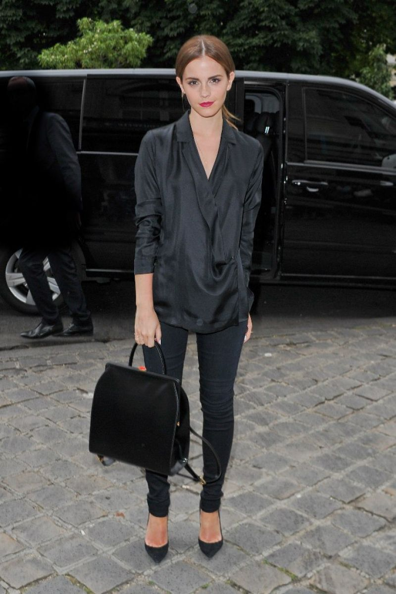 Emma Watson At Giambattista Valli Fashion Show In Paris Hawtcelebs