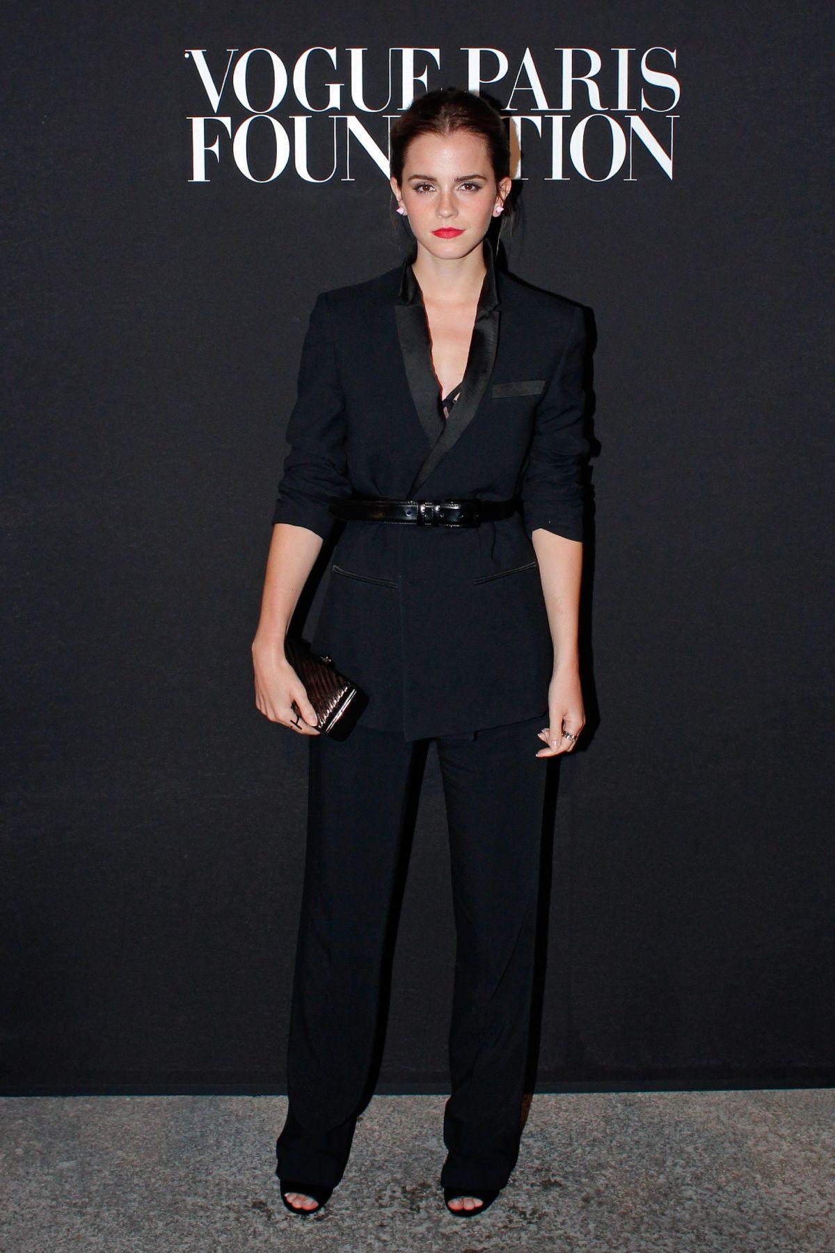 EMMA WATSON at Vogue Foundation Gala Dinner
