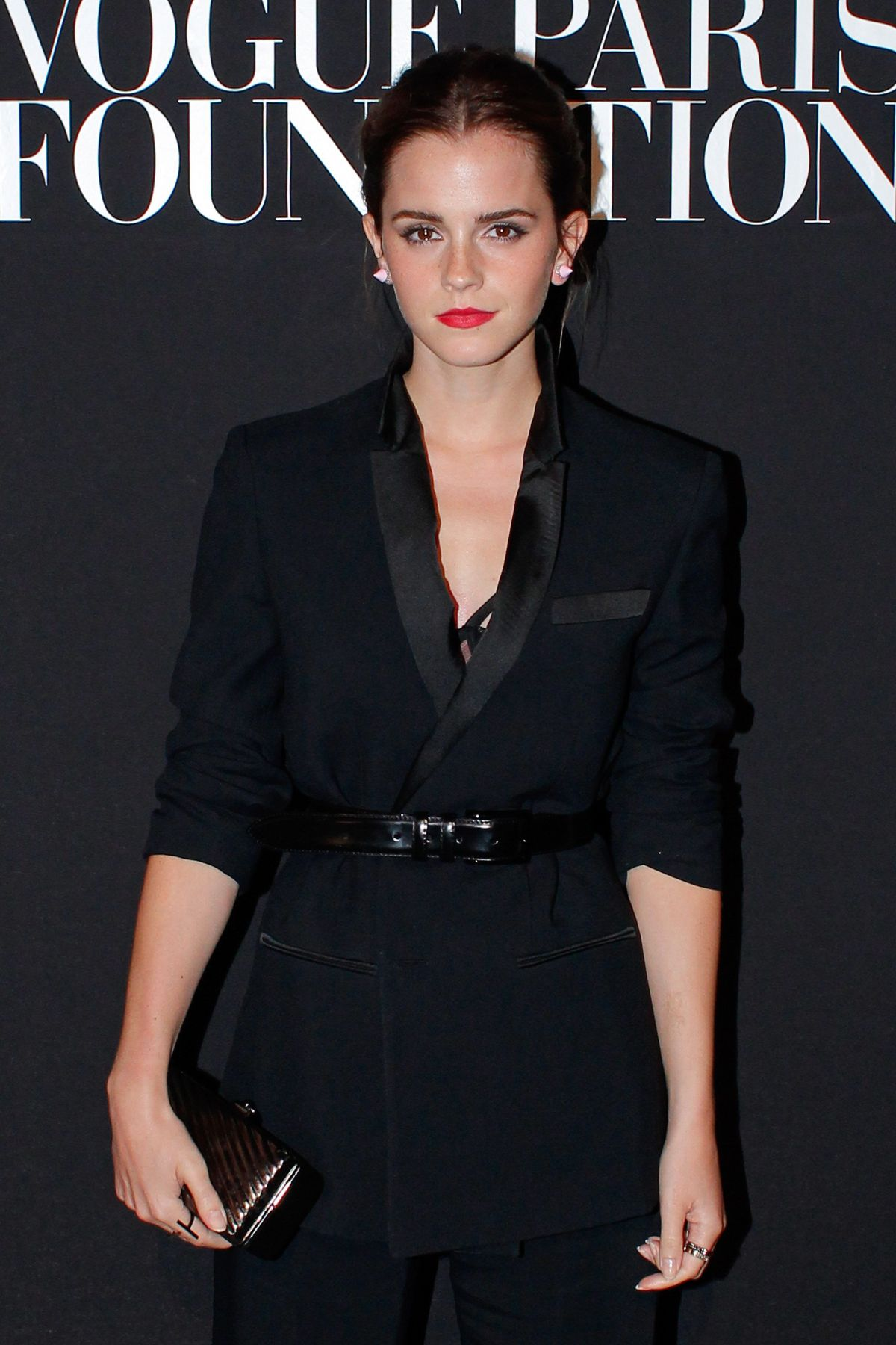 EMMA WATSON at Vogue Party in Paris