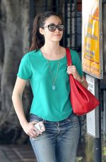 EMMY ROSSUM Heading to a Spa in Beverly Hills