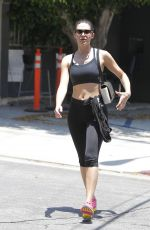 EMMY ROSSUM in Leggings and Tank Top Leaves a Gym in Beverly Hills