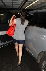 EMMY ROSSUM in Shorts Leaves a Gym in Beverly Hills