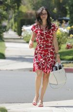 EMMY ROSSUM in Summer Dress Out in Los Angeles