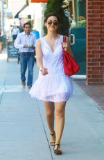 EMMY ROSSUM in White Dress Out in Beverly Hills
