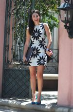 EMMY ROSSUM Leaves Her House in West Hollywood