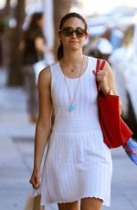 EMMY ROSSUM Leaves Kreation Juicery in Beverly Hills