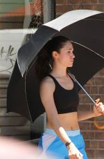 EMMY ROSSUM on the Set of Shameless in Los Angeles