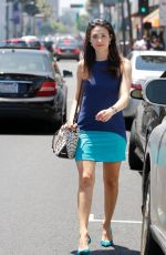 EMMY ROSSUM Out and About in Hollywood