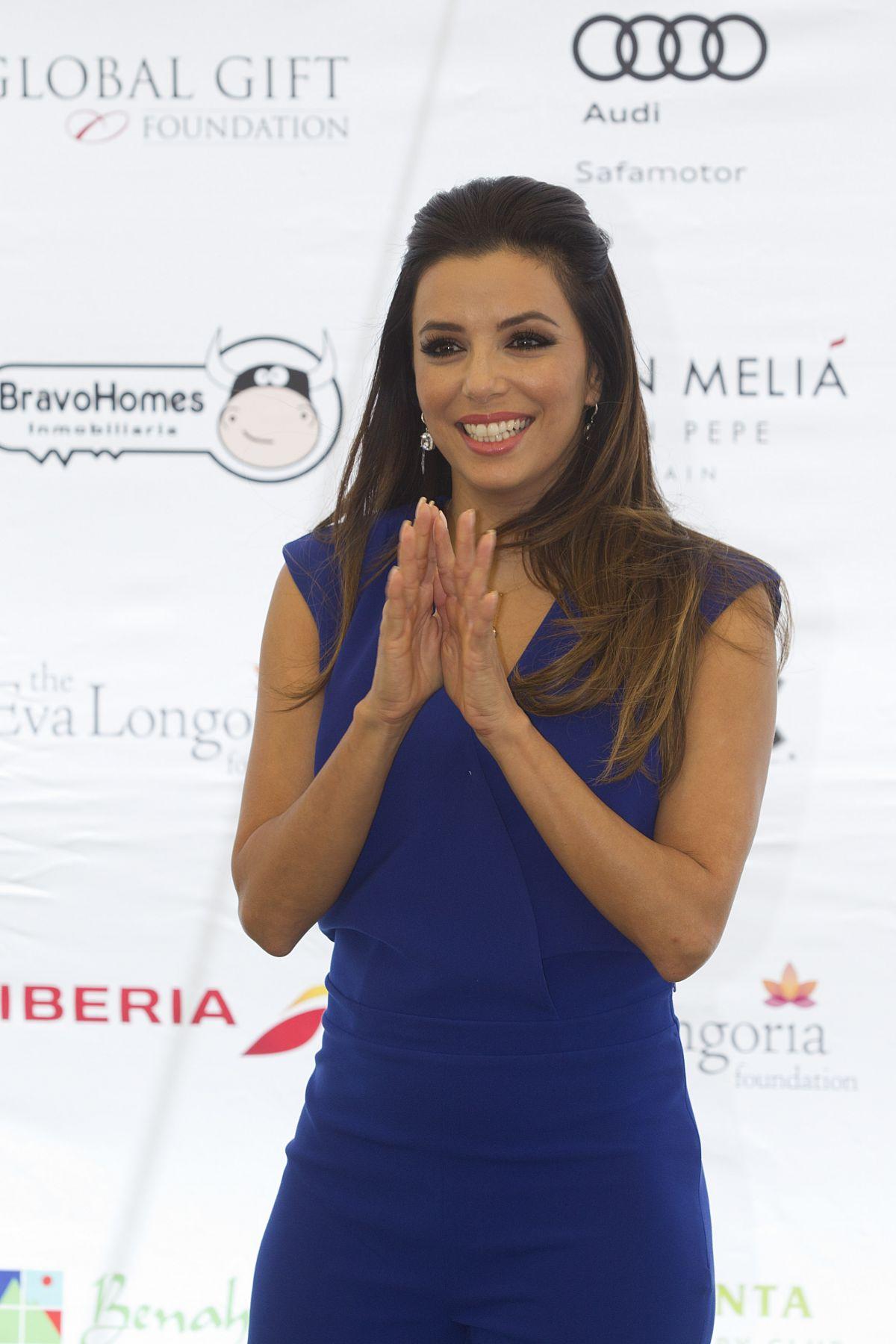 EVA LONGORIA at Global Gift Celebrity Golf Tournament in Spain