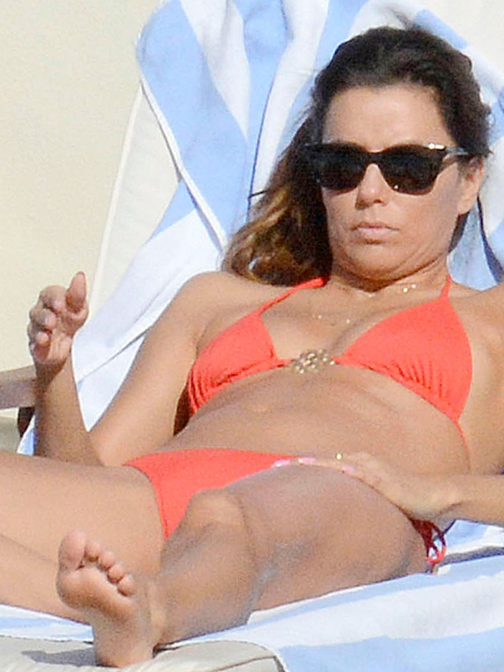 EVA LONGORIA in Bikini on Vacation in Capri