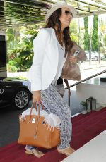 EVA LONGORIA Leaves Her Hotel in Marbella