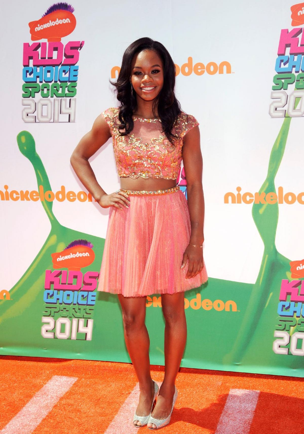 GABBY DOUGLAS at 2014 Kid's Choice Sports Awards in Los Angeles