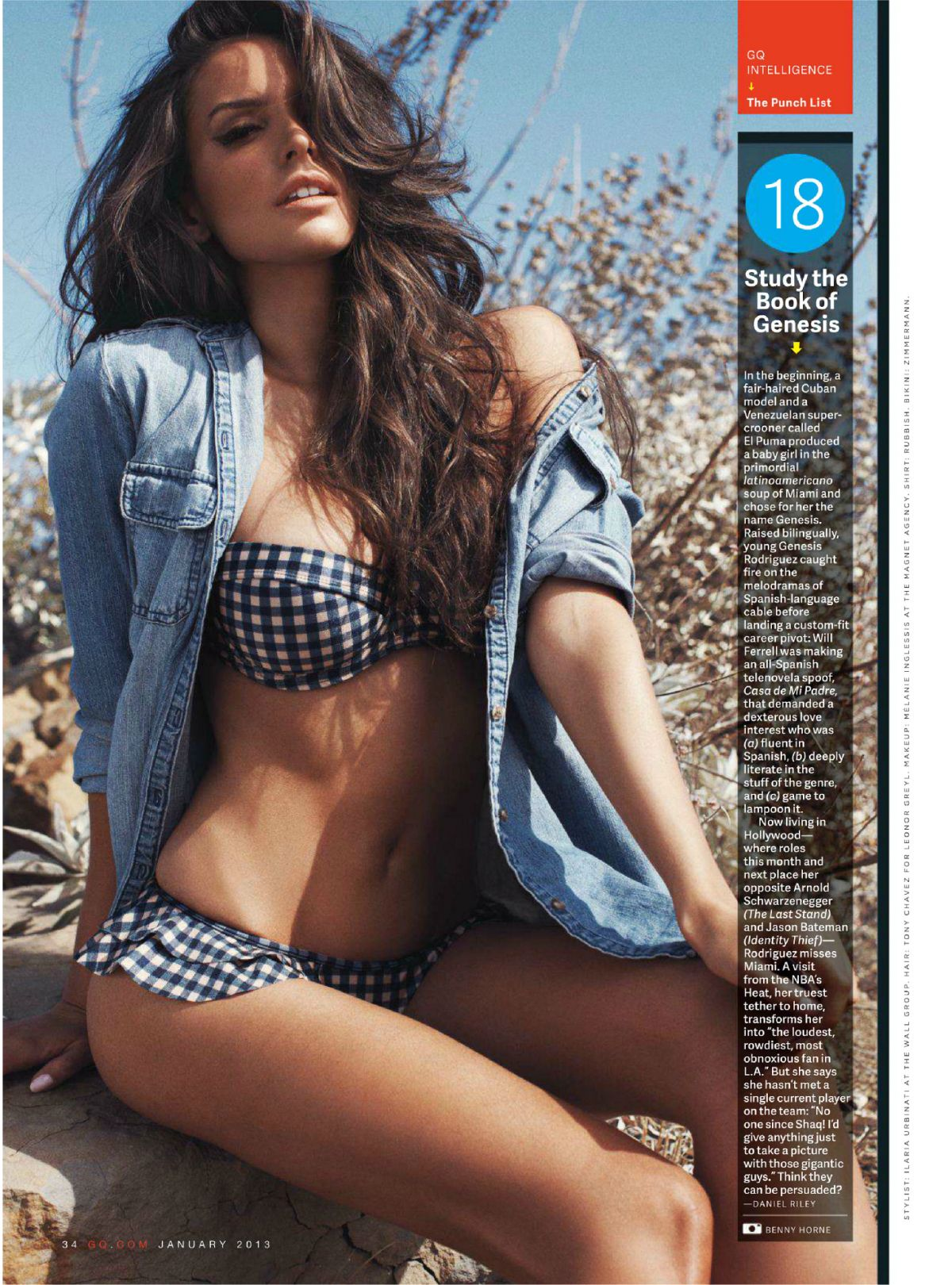 GENESIS RODRIFUEZ in GQ Magazine, January 2013 Issue