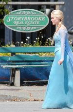 GEORGINA HAIG on the Set of Once Upon a Time in Richmond