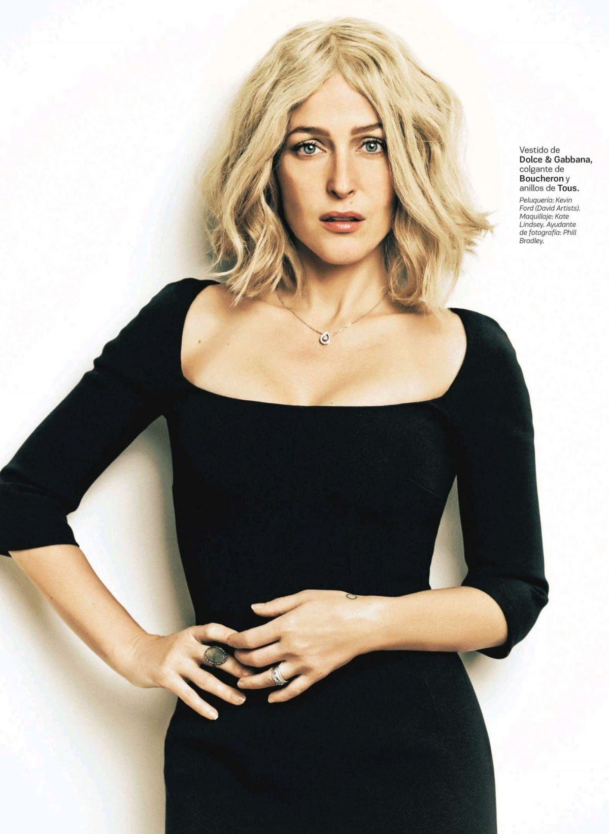 GILLIAN ANDERSON in S Moda Magazine, Spain July 2014 Issue