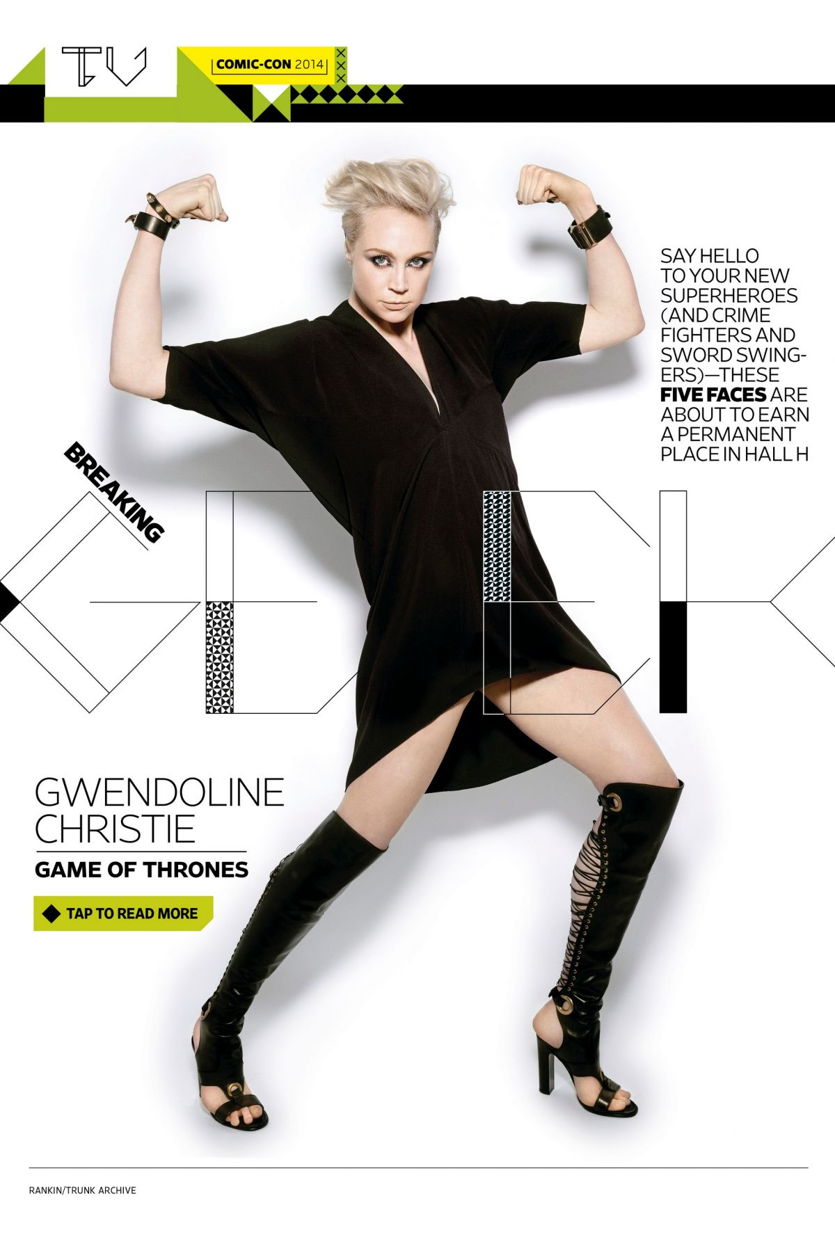 GWENDOLINE CHRISTIE in Entertainment Eeekly, July 25th 2014 Issue
