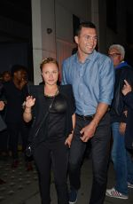 HAYDEN PANETTIERE and Wladimir Klitchko Out for Dinner in London