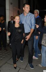 HAYDEN PANETTIERE and Wladimir Klitschko Out for Dinner in London