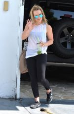 HILARY DUFF Arrives at a Gym in Los Angeles