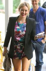 HILARY DUFF Arrives at Intermix in New York