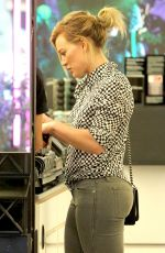 HILARY DUFF at Mac Cosmetics in West Hollywood