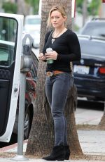 HILARY DUFF Heading to a Party in Sherman Oaks