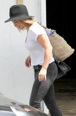 HILARY DUFF Leaves a Gym in Los Angeles 1607