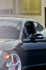 HILARY DUFF Leaves E Baldi Restaurant in Beverly Hills