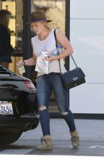 HILARY DUFF Shopping at Chanel Store in Beverly Hills