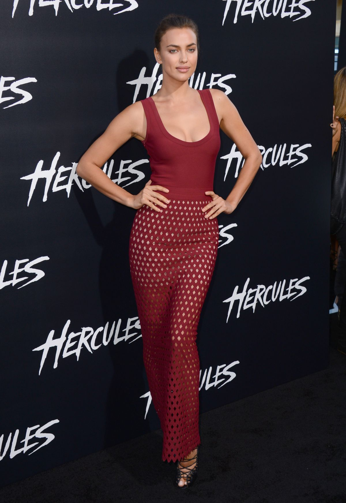 IRINA SHAYK at Hercules Premiere in Los Angeles