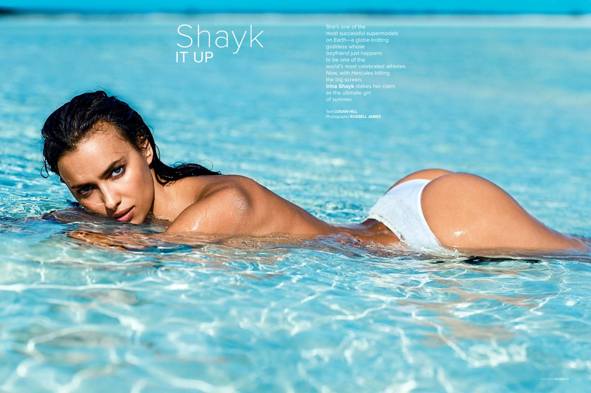 IRINA SHAYK in Maxim Magazine, July/August 2014 Issue