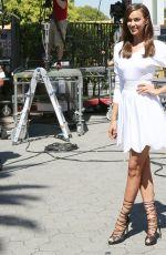 IRINA SHAYK on the Set of Extra in Los Angeles