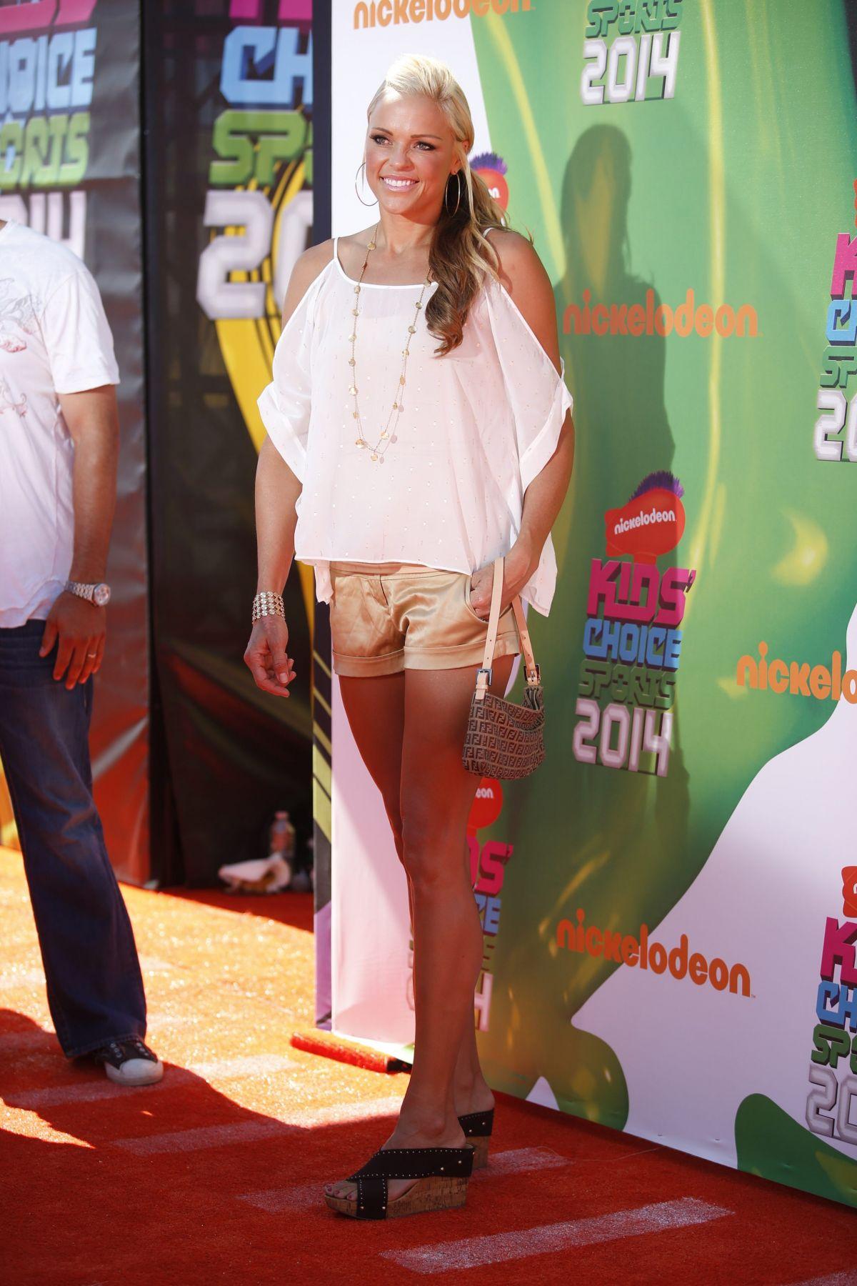 JENNIE FINCH 2014 Kid's Choice Sports Awards in Los Angeles