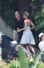 JENNIFER LAWRENCE on the set of a Photoshoot in Los Angeles