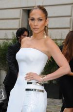 JENNIFER LOPEZ at Versace Fashion Show in Paris