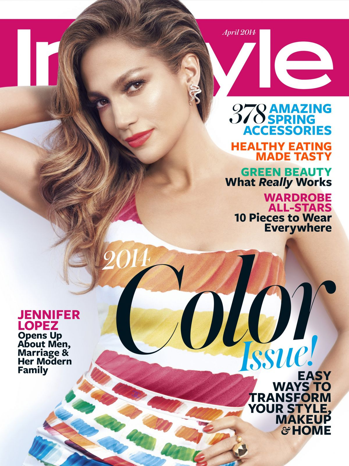 Instyle Magazine Us: JENNIFER LOPEZ In Instyle Magazine, April 2014 Issue