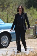 JENNIFER LOVE HEWITT on the Set of  Criminal Minds in Los Angeles