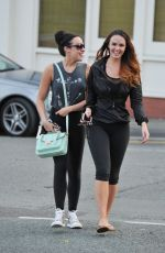 JENNIFER METCALFE and STEPHANIE DAVIS Out and About in Liverpool