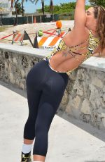 JENNIFER NICOLE LEE Exercise at a Park in South Beach
