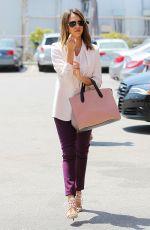 JESSICA ALBA Arrives at Her Office in Santa Monica